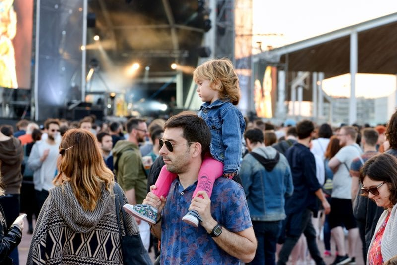 Dad with family at Primavera Sound
