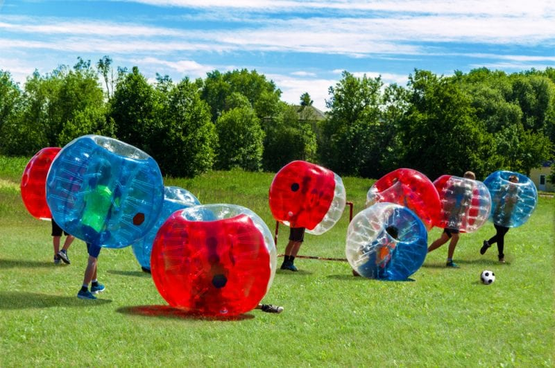 Bubble Football for original hen do ideas
