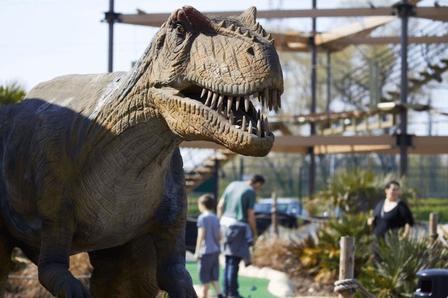 Dinosaur at Jurassic Falls