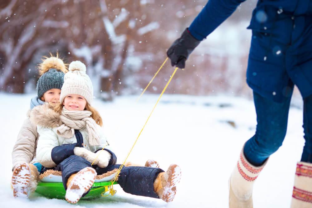 Family sledging