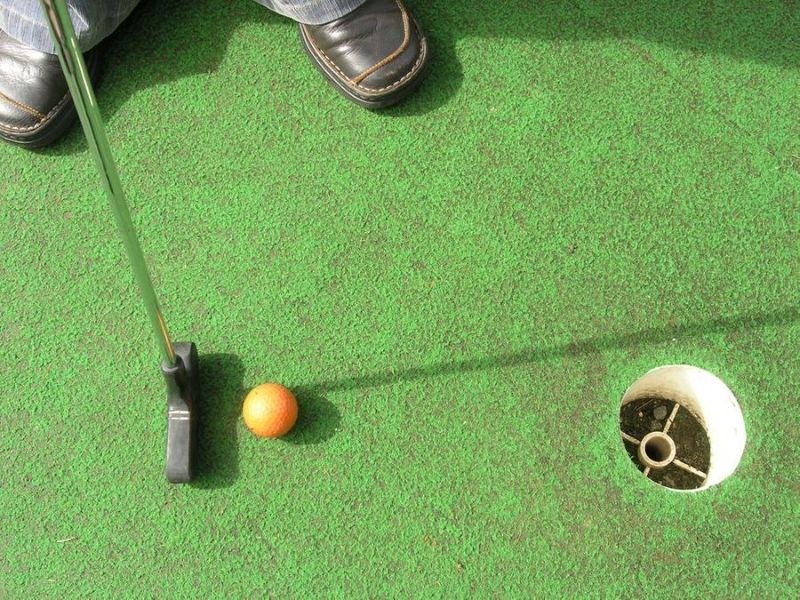Putter and ball